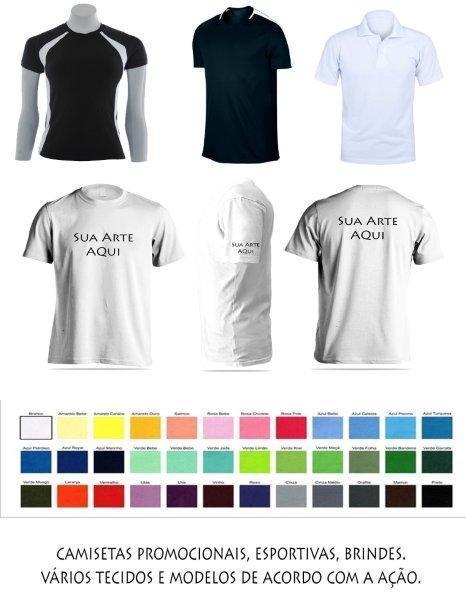 Camisetas promocionais para eventos